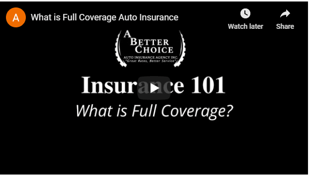 Video - What is full coverage insurance?